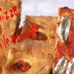 la pizza con  le acciughe