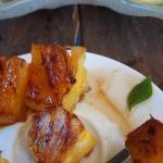 Ananas grigliato con glassa al limone