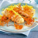 Baccalà in pastella alle carote filanti