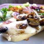 Baguettes funghi pancetta e galbanino