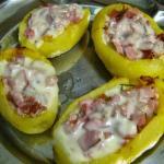Barchette di patate al forno con prosciutto e formaggio
