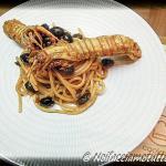 """bavette con cicale e olive taggiasche in """"coccio"""""""