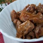 Bocconcini di carne di tacchino al marsala