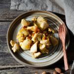 Bocconcini di pollo all'arancia e mandorle