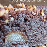 brownies pere e nocciole