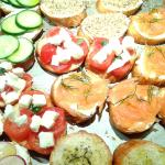 Bruschette per piatti di pesce