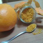 buccia d'arancia polverizzata