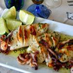 calamari grigliati al lime