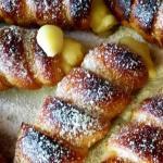 Cannoli di sfoglia con crema vegetale