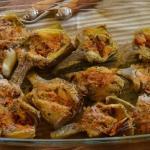 carciofi farciti al baccalà e olive