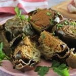 Carciofi ripieni di mollica condita