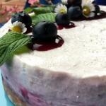 cheesecake ai mirtilli e profumo di cannella
