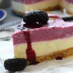 cheesecake con mousse ai gelsi (senza cottura)