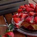 cheesecake cremoso con fragole