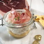 Cheesecake salata al prosciutto di modena dop