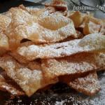 Chiacchiere di carnevale, frappe, cenci, bugie o frittole
