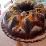 ciambella variegata al cioccolato al latte al profumo d'arancia