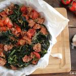 Cime di rapa gratinate e salsiccia