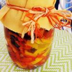 Conserva di peperoni al vino e noci (bimby)