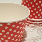 Coppe gelato al pistacchio, bignÈ e panna