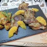 costolette di agnello all'arancia con patate saporite