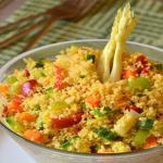 cous cous verdure e zafferano