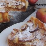 Crostata con crema chantilly mele e cannella
