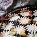 crostata con frolla con farina di riso ,ricotta e marmellata