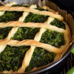 Crostata di brisè con spinaci