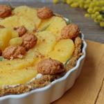 crostata senza cottura all'ananas e amaretti
