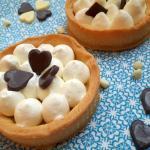 crostatine con namelaka al cioccolato bianco