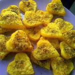 cuori di polenta al forno