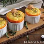 Dessert all'arancia e amaretti, monoporzione