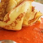 Fagottini con crema di melanzane