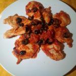 fettine di pollo con olive e pomodoro