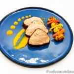 Filetto di maiale speziato al forno con peperoni