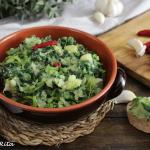 Foglie e patate, antica ricetta contadina pugliese