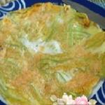 frittata con fiori di zucca al forno