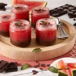 gelo di anguria e cioccolato fondente