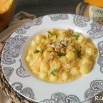 gnocchetti alla crema di zucca con gorgonzola e noci