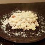 Gnocchi di patate con speck noci e robiola