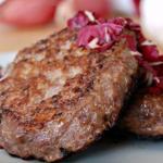 hamburger radicchio e mozzarella (bimby)