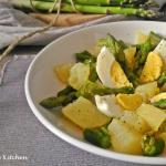 insalata di asparagi, uova e patate