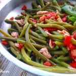 insalata di fagiolini con tonno e pomodori