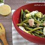 insalata di fagiolini con uova e tonno