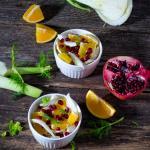 Insalata di finocchi melograno e arancia