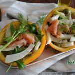 Insalata di salmone all'arancia