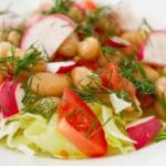 Insalata fagioli pomodorini e olive