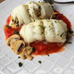 involtini di sogliola con champignon e parmigiano
