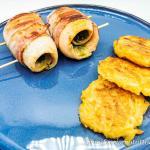Involtini di trota golosi con pesto e pancetta